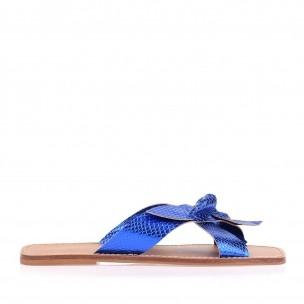 Flat Metal Serpente Azul