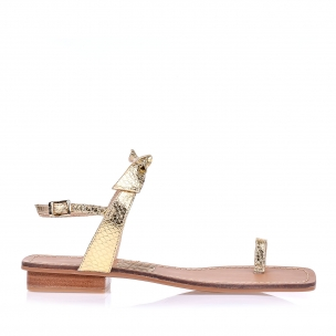 Flat Metal Serpente Ouro