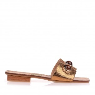 Flat Metal Serpente Ouro Velho