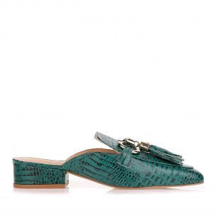 Flat Mini Croco Evergreen