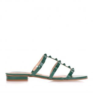 Flat New Couro Evergreen
