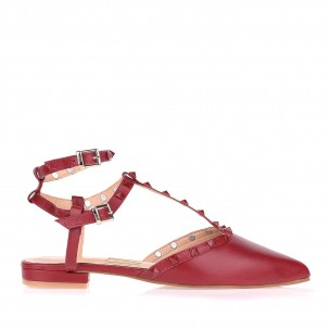 Flat New Couro Scarlet
