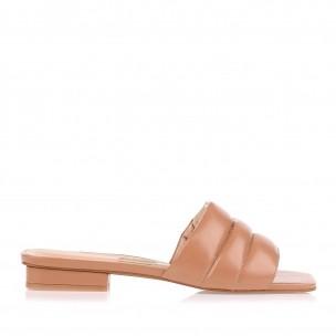 Flat New Couro Tan