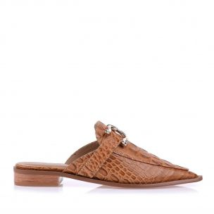 Flat New Croco Caramelo