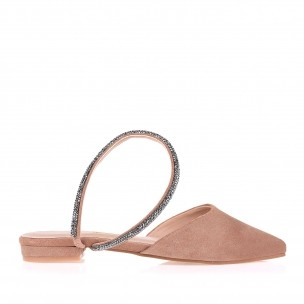 Flat New Suede Nude