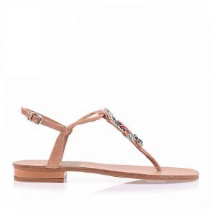 Flat Prada Tan