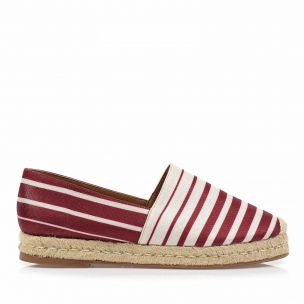Flats Stripes Carmim