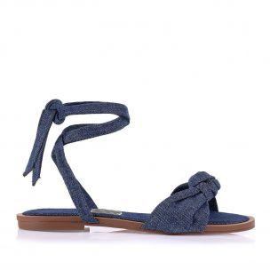 Rasteira Nó Jeans Blue