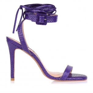 Sandália Salto Alto Buckle Lace Up