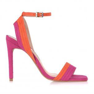 Sandália Salto Alto Color Strips