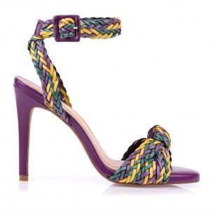 Sandália Salto Alto Color Trissê