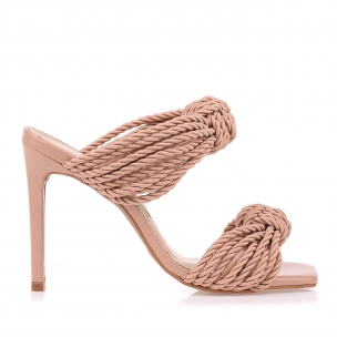 Sandália Salto Alto Cord  Nude