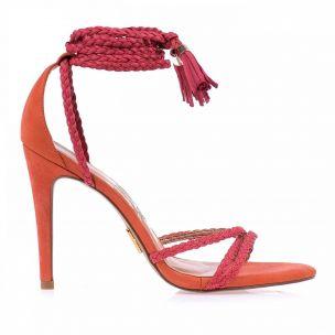Sandália Salto Alto Econob Pink
