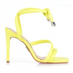 Sandália Salto Alto Fluor Amarelo
