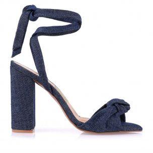 Sandália Salto Alto Jeans Blue
