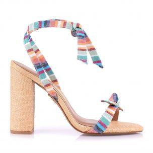 Sandália Salto Alto Listra Color