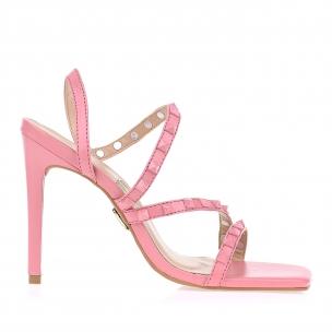 Sandália Salto Alto New Couro Light Pink