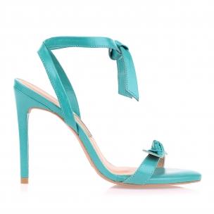 Sandália Salto Alto New Couro On Blue