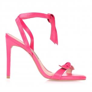Sandália Salto Alto New Couro On Pink