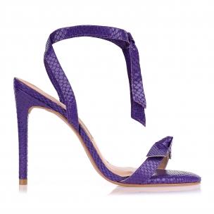 Sandália Salto Alto New Couro Violet