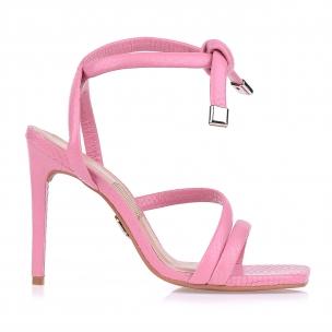 Sandália Salto Alto New Snake Light Pink