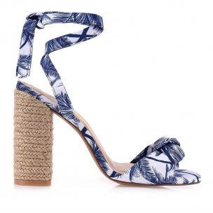 Sandália Salto Alto Palm Blue