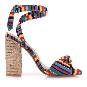 Sandália Salto Alto Rainbow Line