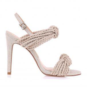 Sandália Salto Alto Rope Knots