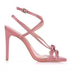 Sandália Salto Alto Rose