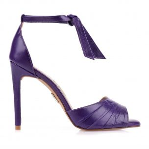 Sandália Salto Alto Violeta