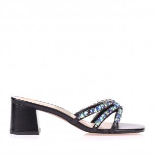 Sandália Salto Baixo Suquare Glam