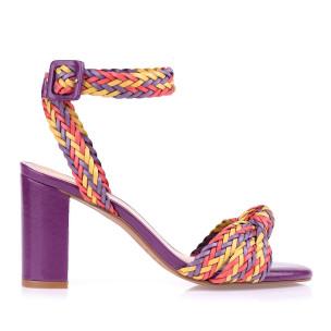 Sandália Salto Bloco Médio Color Triss