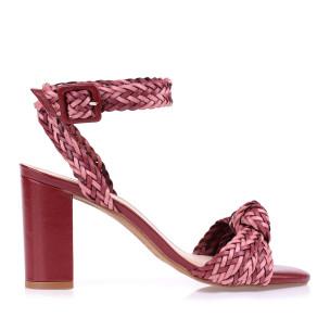 Sandália Salto Bloco Médio Color Trissê
