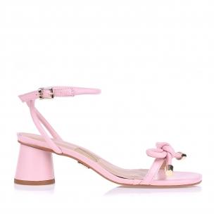 Sandália Salto Médio Candy Rose
