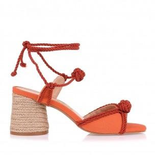 Sandália Salto Médio Cord Alta I Orange