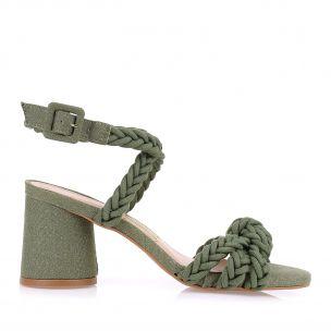 Sandália Salto Médio Cotton Tress