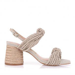 Sandália Salto Médio Rope Knots