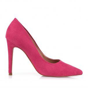 Scarpin Salto Alto Camurça Rosa
