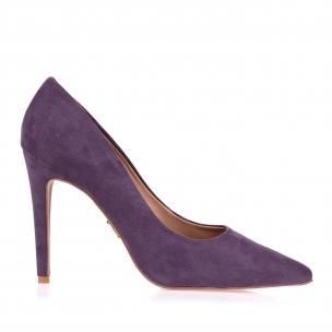 Scarpin Salto Alto Camurça Violet