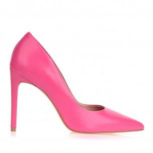 Scarpin Salto Alto Fossil Neon Pink