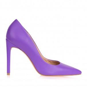 Scarpin Salto Alto Fossil Neon Violet