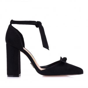 Scarpin Salto Alto Lace Up Preto