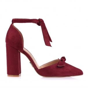 Scarpin Salto Alto Lace Up Wine