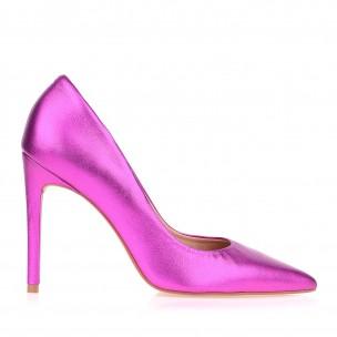 Scarpin Salto Alto Metal Pink