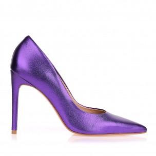 Scarpin Salto Alto Metal Violet