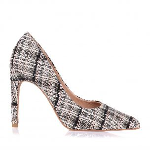 Scarpin Salto Alto New Tweed