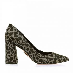 Scarpin Salto Médio Shine Leopard