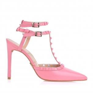 Slingback Salto Alto New Couro Light Pink