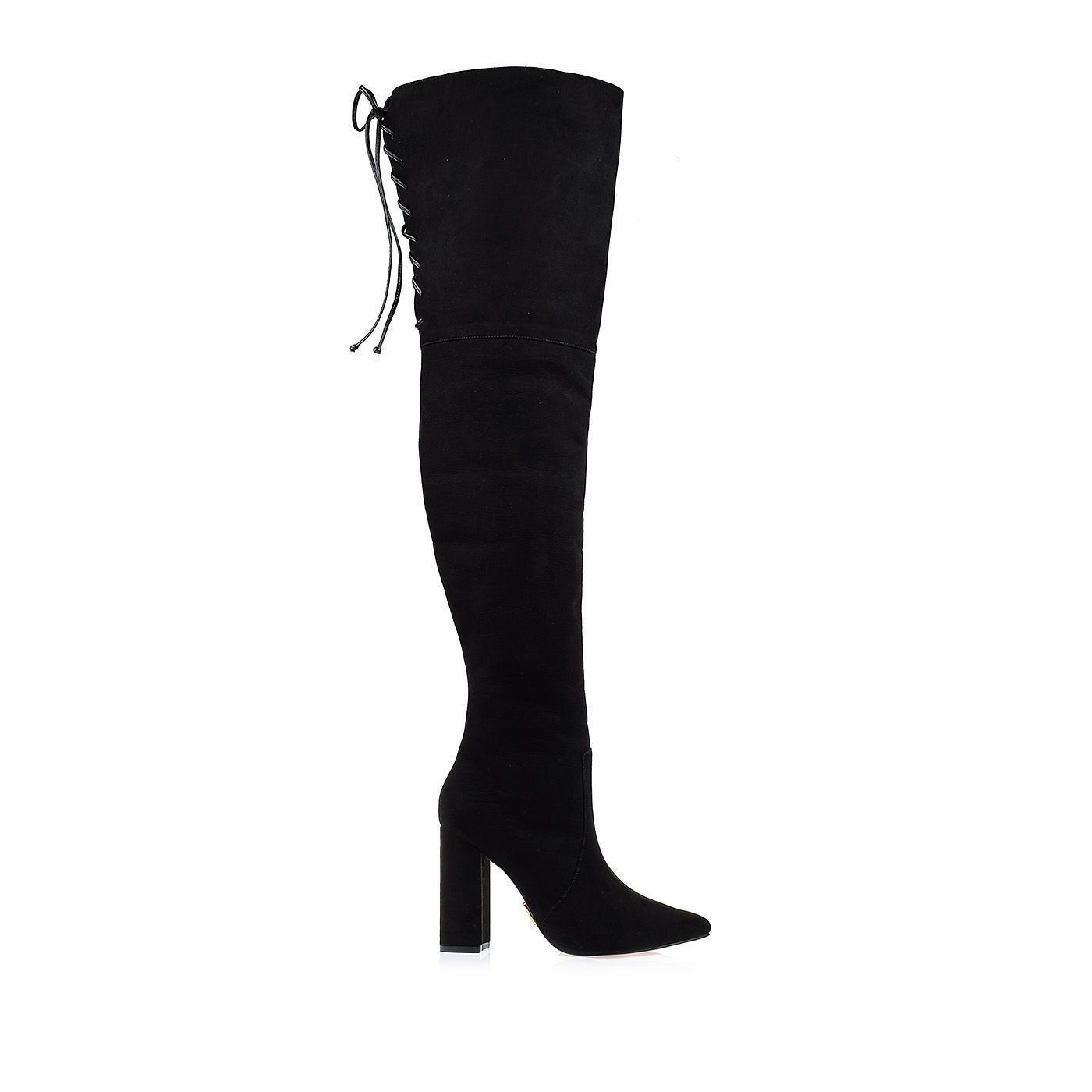 Bota Salto Alto Over The Knee Preto