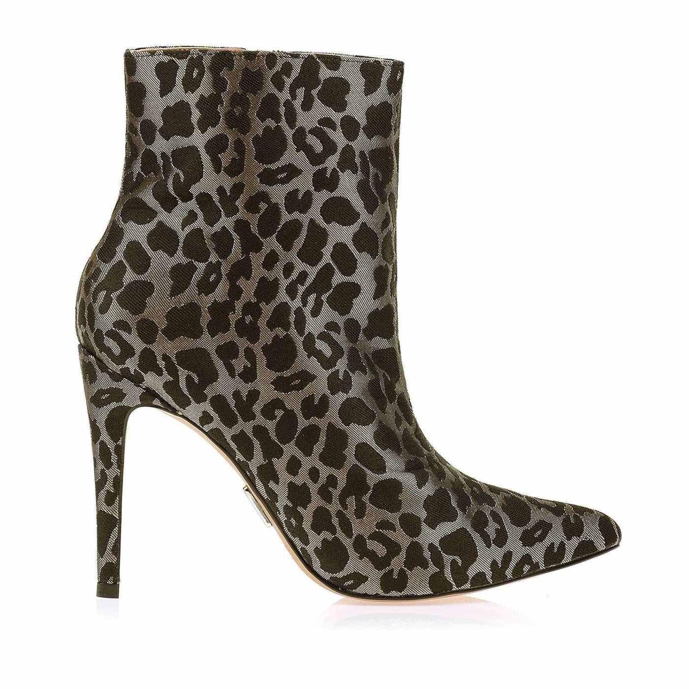 Bota Salto Alto Shine Leopard